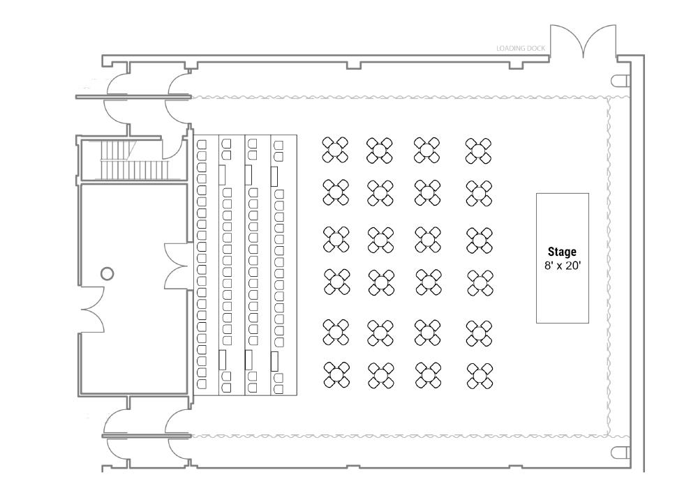 Richcraft Theatre Cabaret Seating plan